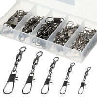 100pcs/lot ZX+BX BRASS BARREL SWIVEL WITH INTERLOCK SNAP FISHING LURE TACKLE