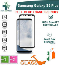 Samsung Galaxy S9+ Plus Tempered Glass 9D Curved Screen Protector Case Friendly