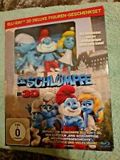 The Smurfs 3D+2D Blu-Ray Deluxe Figurine Exclusive Limited Gift-Set New & Sealed