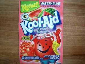 200 WATERMELON Kool Aid Drink Mix summer popsicle party fun taste! Vitamin C