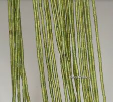 """1.5MM FROST GREEN JADE GEMSTONE GREEN TUBE 1.5MM LOOSE BEADS 14"""""""