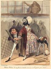 Honore Daumier Reproductions: Bobonne, Bobonne, do not look!... - Fine Art Print