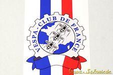 "Banner Beinschild ""Vespa Club de France"" - V50 PK PX Frankreich Aufkleber Dekor"