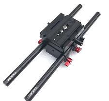 SHOOTVILLA Universal Rail System 15mm Rod Support for DSLR DV Camera HDV