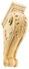 "Iww304 8"" 11"" 13"" Acanthus Leaf Corbel Hand-Carved Solid Hard Wood"