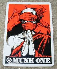 MUNK ONE Sticker BLIND PRAYER from poster print Invisible Industries