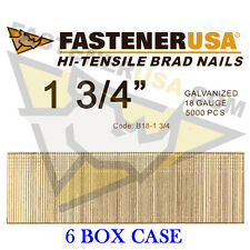 "1 3/4"" 18 Gauge Straight Brad Finish Nails 18 ga (5,000 ct) (Case of 6)"