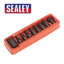 """Sealey - AK5611 Impact Socket Spline Bit / Holder Set 9pc- M6-M18 - 1/2""""Sq Drive"""