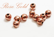 14k solid ROSE PINK gold 2mm 3mm 4mm  round polish beads  (price for 10 pieces )
