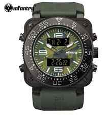 INFANTRY Men Camoufle Military Green Army Rubber Watch
