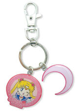 Authentic Sailor Moon Metal Crescent Charm Keychain!