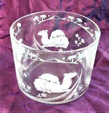 Vintage Mid-Century Barware Hazel Atlas ICE BUCKET w CAMELS PALM TREES PYRAMIDS