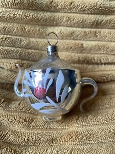 Teapot Antique Ussr Christmas Decor Mercury Glass Vintage Old Bauble