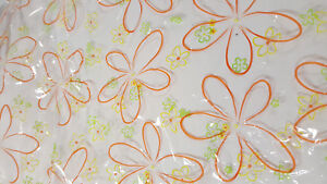 """30"""" x 100' ORANGE BLOOMS Cellophane Wrap Roll 4 Gift Wrapping Floral Arrangement"""