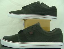 New Mens 12 DC Tonik Grey Maroon Suede Leather Skate Shoes $55