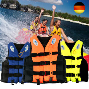 Erwachsene Rettungsweste Schwimmweste Herren Damen Kinder Schwimmhilfe S-XXXL DE