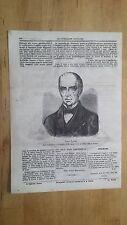 1872 Illustrazione Popolare: Ritratto Carlo Varese (Tortona) Medico Scrittore