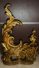 ANCIENNE DÉCORATION DE CHEMINÉE XIXé/DEVANT/BARRE/BRONZE DORÉ/st.LOUIS XV/H.50cm