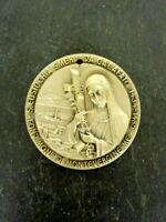 seltene alte Medaille Heilige Eustochia Smeralda Calafato signiert Sammlerstück