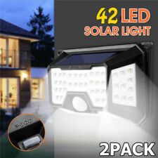 2x 42 LED Solar PIR Motion Sensor Wall Light 3 Modes Outdoor Garden Path Lamp US