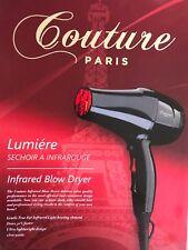 Couture Paris Blow Dryer, Travel Size, New, Retail Box, Gloss Black