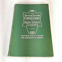 Vtg Teacher's Annual Lesson Commentary on Bible School Lessons 1959 Book