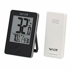 New ListingTaylor Precision Products Wireless Digital Indoor/Outdoor Thermometer Black