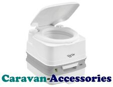 Thetford Porta Potti Qube 335 Portable Toilet White Piston Pump Camping Boat