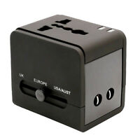 Universal World Plug Travel Adapter Converter With Dual USB Charger AU/US/UK/EU
