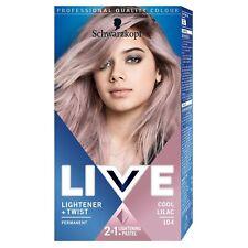 Schwarzkopf LIVE 2 in 1 Lightener + Twist Permanent Hair Color 104 Cool Lilac