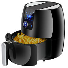 Air Fryer 3.7Qt, 1500W w/ Recipes - Touch Screen Control - Auto Shut off & Timer
