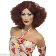 Haut femme 70'S Style Afro Perruque Auburn Déguisement Disco Night Fever Pop Star boogie