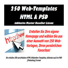 250 Web Templates HTML & PSD - inklusive Master Reseller Lizenz