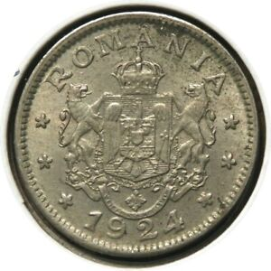 elf Romania Kingdom 1 Leu 1924 (b) Thin
