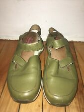 Simple Women's Slingback Olive Leather Comfort Shoes Size 8M