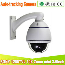 1/3 Sony 1200TVL Auto tracking Mini High speed dome camera 10 X Zoom PTZ CAMERA