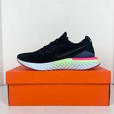 Nike Epic React Flyknit 2 Black White Sapphire Men's Running Shoes, Size 12.5