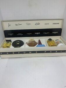 Parfums Paris Set Coffret 6 Eaux De Toilette Vintage Miniature Perfume Pre Owned