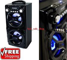 Sylvania Black Portable Bluetooth Speaker Smartphone Bass Huge Stereo Sound