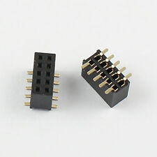 10Pcs 1.27mm Pitch 2x5 Pin 10 Pin Female SMT SMD Double Row Pin Header Strip