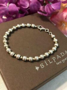 Silpada RARE GB242A Gold Filled ~ Sterling Silver Bead Bracelet *MINT