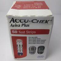Accu-Chek Aviva Plus 50 Count Exp: 06/2020 Diabetic Glucose Testing Strips