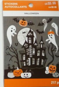 """NEW RELEASE! RECOLLECTIONS """"HAUNTED HOUSE HALLOWEEN STICKER BOOK""""  217 Pieces"""
