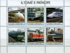 Timbres Trains St Thomas et Prince 1554/9 ** année 2003 lot 22850