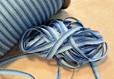 "MOKUBA 1/4"" OMBRE DOUBLE PICOT EDGE RIBBON - BLUE # 10- BY THE 2 YARD PIECE"