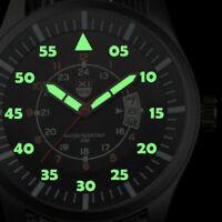 Herren UHR Nylon Armband Armbanduhr Militär Nylon Quarzuhr Watch I7N2