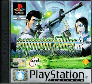 PlayStation PS1 - SYPHON FILTER 2 Game & Manual - Platinum - Excellent!!!