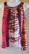 WOMEN'S PLUS SIZE 3X 22W 24W BRAIDED PRINTED TANK SUMMER SHIRT - CLOTHING NEW