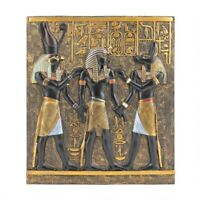 Rameses I Between Horus And Anubis Design Toscano Hand Painted Wall Frieze