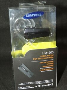 Samsung HM1200 Bluetooth Headset w/2 Ear Hooks & 3 Ear Gels BNIB Factory Sealed